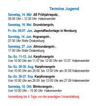 Termine Jugend©Angler-Verein Nienburg Weser e.V.